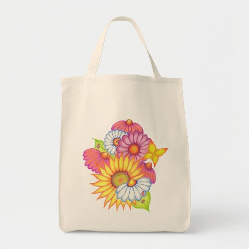 Country Flowers Tote Bag