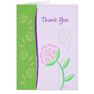 Country Flowers-TY Card