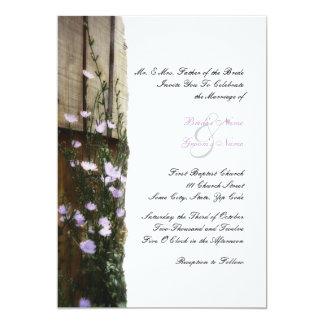 "Country Flowers Wedding Invitation 5"" X 7"" Invitation Card"