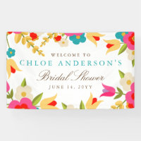 Country Flowers Wedding or Party Banner