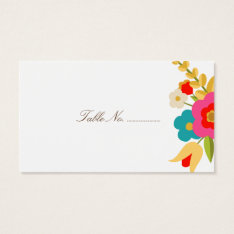 Country Flowers Wedding Place Cards 100 Pk at Zazzle