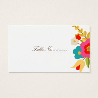 Country Flowers Wedding Place Cards 100 pk