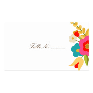 Country Flowers Wedding Place Cards 100 pk Double-Sided Standard Business Cards (Pack Of 100)