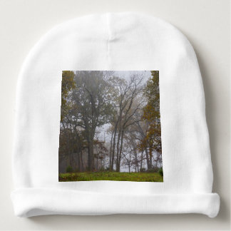 Country Foggy Fall Morning Baby Beanie