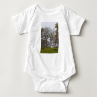 Country Foggy Fall Morning Baby Bodysuit