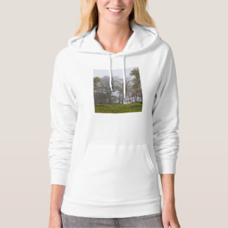 Country Foggy Fall Morning Hoodie