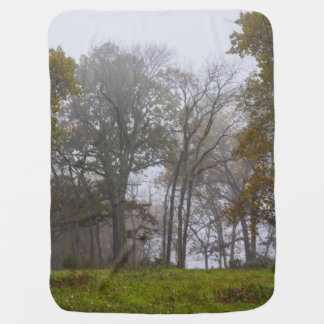 Country Foggy Fall Morning Receiving Blanket