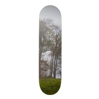 Country Foggy Fall Morning Skateboard