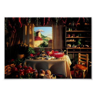 Country Food House Poster