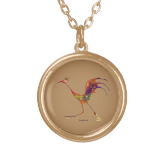 Country Fowl Round Pendant Necklace