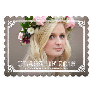 Country Frame in Mint | Graduation Invitation