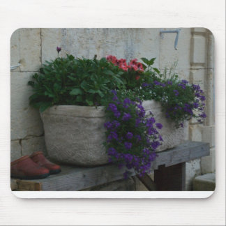 Country French Flower Box Mousepad
