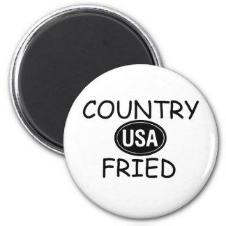 Country Fried 2 Inch Round Magnet