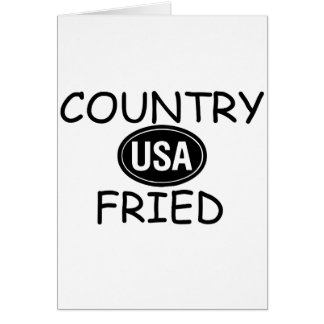 Country Fried Greeting Card