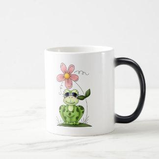 Country Frog and Flower Magic Mug