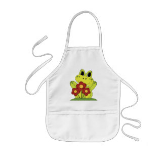 Country Frog fun kitchen kids apron
