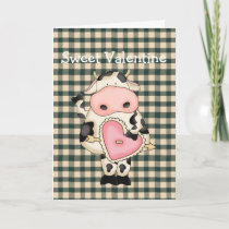 Country Fun Cow Valentine's Day Card