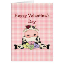 Country Fun Cow Valentine's Day Greeting Card