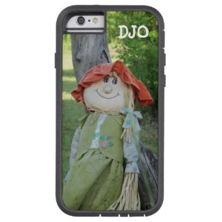 Country Gal Scarecrow Leaning On A Stump Tough Xtreme iPhone 6 Case