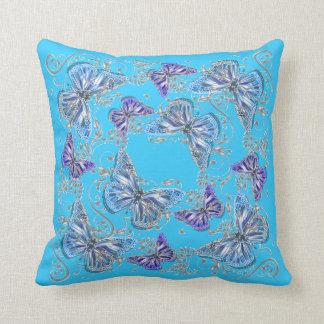 Country garden collection blue purple pillows