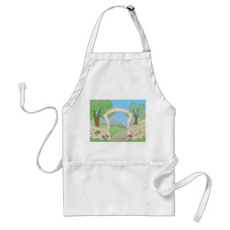 Country Garden Path Adult Apron