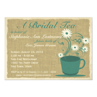 Country Garden Tea Party Card