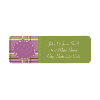 Country Garden Wedding Return Address Label