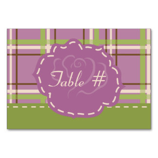 Country Garden Wedding Table Card
