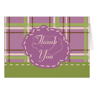 Country Garden Wedding Thank You Card