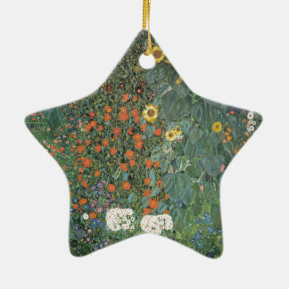 Country Garden with Sunflowers 1907 Ceramic Ornament