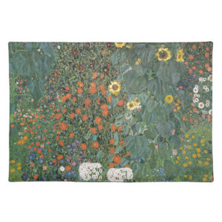 Country Garden with Sunflowers 1907 Cloth Placemat