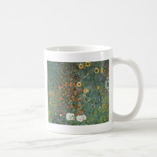 Country Garden with Sunflowers 1907 Classic White Coffee Mug