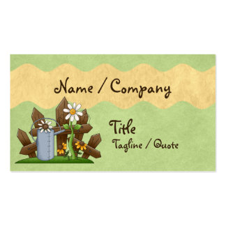 Country Gardener Double-Sided Standard Business Cards (Pack Of 100)