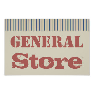 Country General Store Wall Art Poster Print Decor