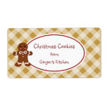 Country Gingerbread Gingham Labels