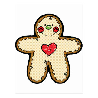country gingerbread man postcard