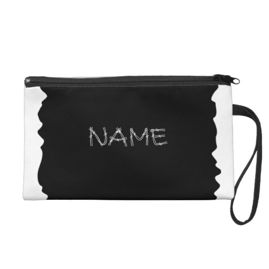 Country Girl Black Cowhide Bagettes Wristlet Bag