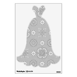Country Girl Charcoal Gray Evening Gown Wall Decal