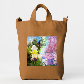 Country Girl Collage Pink Flower Cottage Style Duck Bag