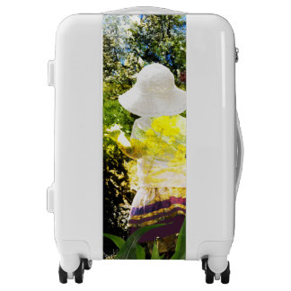 Country Girl Collage Pink Flower Cottage Style Luggage