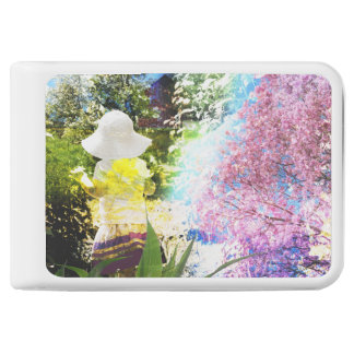 Country Girl Collage Pink Flower Cottage Style Power Bank