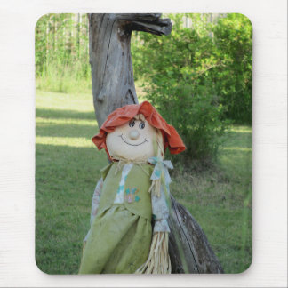 Country Girl Scarecrow  by djoneill Mouse Pad