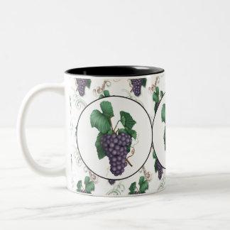 Country grape fruit coffee mug