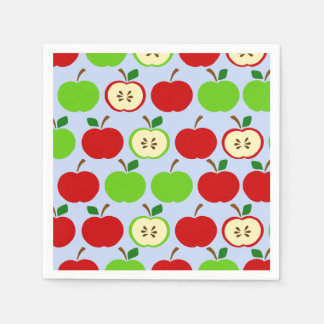 Country Green and Red Apples Fruit Pattern Napkin