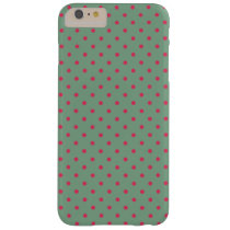 Country Green /Fuchsia Polka Dot Barely There iPhone 6 Plus Case