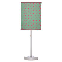 Country Green/Fuchsia Polka Dot Desk Lamp