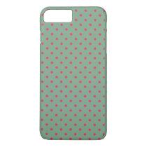 Country Green /Fuchsia Polka Dot iPhone 7 Plus Case