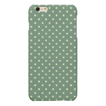 Country Green/Light Cream Polka Dots pattern Matte iPhone 6 Plus Case