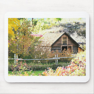 Country grist mill mouse pad