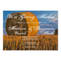 Country Hay Bale Rural Wedding Invitations